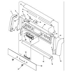 ARG7800E Gas Range Backguard Parts diagram