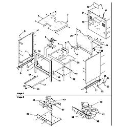 ARG7800E Gas Range Cabinet Parts diagram