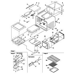 ARG7800E Gas Range Cavity Parts diagram