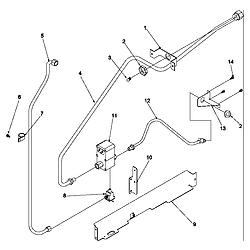 ARG7800E Gas Range Gas supply Parts diagram