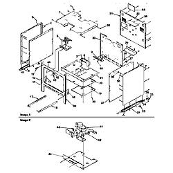 ARG7800LL Gas Range Cabinet Parts diagram