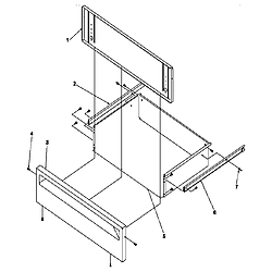 ARG7800LL Gas Range Storage drawer Parts diagram
