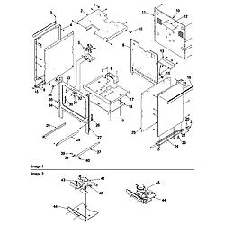 ARGS7650 Gas Range Cabinet Parts diagram