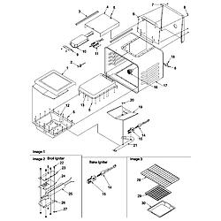 ARGS7650 Gas Range Cavity Parts diagram