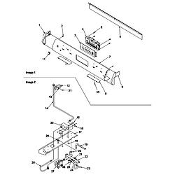 ARGS7650 Gas Range Control panel and gas supply Parts diagram