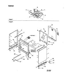 ART6511LL Amana ART6511LL Timer/Clock/ERC Cabinet Parts diagram