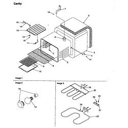 ART6511LL Amana ART6511LL Timer/Clock/ERC Cavity Parts diagram