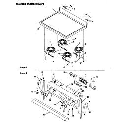 ART6511LL Amana ART6511LL Timer/Clock/ERC Maintop and backguard Parts diagram