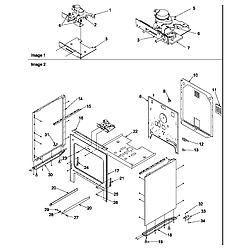 ART6511WW Electric Range Cabinet Parts diagram
