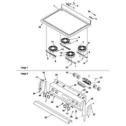 ART6511WW Electric Range Maintop and backguard Parts diagram