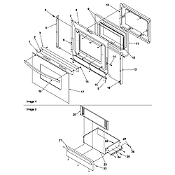 ART6511WW Electric Range Oven door and storage door Parts diagram
