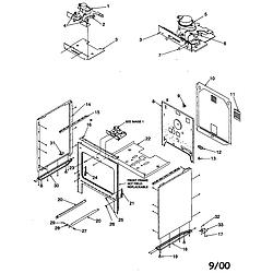 ARTC7511WW Electric Range Cabinet Parts diagram