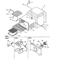 ARTC7511WW Electric Range Cavity Parts diagram