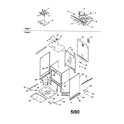ARTS6650WW Electric Slide-In Range Cabinet Parts diagram