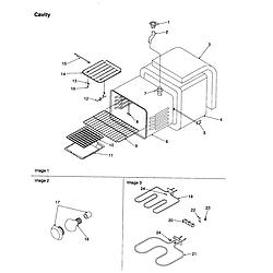 ARTS6650WW Electric Slide-In Range Cavity Parts diagram