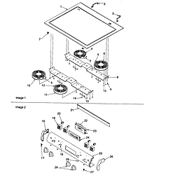 ARTS6650WW Electric Slide-In Range Main top and backguard Parts diagram