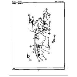 BCRE955 Range Body (bcre955) Parts diagram