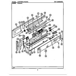 BCRE955 Range Control panel (bcre955) Parts diagram