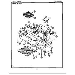 BCRE955 Range Oven Parts diagram