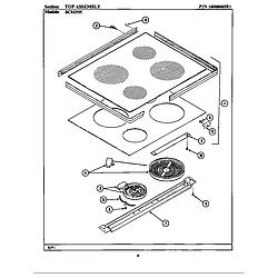 BCRE955 Range Top assembly (bcre955) Parts diagram
