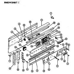BNEA3H9TZ Range Control panel Parts diagram