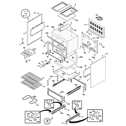 CFEF358EB2 Electric Range Body Parts diagram