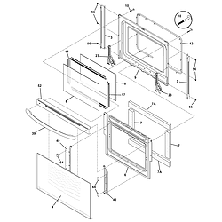 CFEF358EB2 Electric Range Door Parts diagram