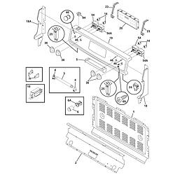CFEF358ES2 Electric Range Backguard Parts diagram