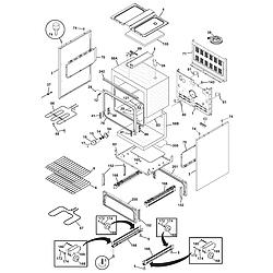 CFEF358ES2 Electric Range Body Parts diagram