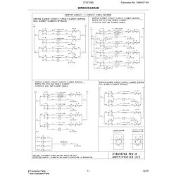 CFEF358ES2 Electric Range Wiring diagram Parts diagram