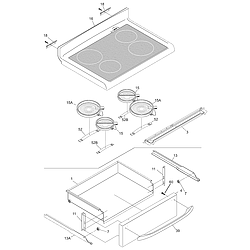 CFEF372BC2 Electric Range Top/drawer Parts diagram