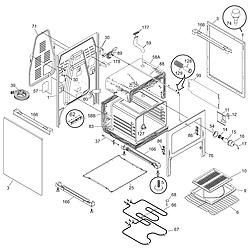 CFEF372BC3 Electric Range Body Parts diagram