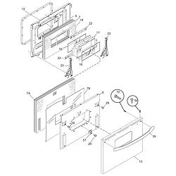 CFEF372BC3 Electric Range Door Parts diagram