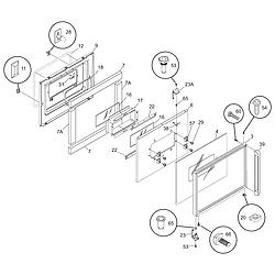 CGEB27S7CB1 Electric Walloven Door Parts diagram