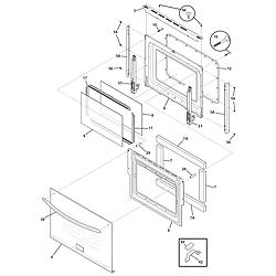 CGES387CS1 Electric Range Door Parts diagram