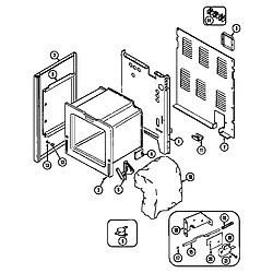 CHE9000BCE Range Body Parts diagram