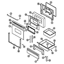 CHE9000BCE Range Door/drawer (che9000bcb ser. pre. 10-11) (che9000bcb) Parts diagram
