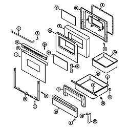 CHE9000BCE Range Door/drawer (che9000bcb ser. pre. 12) (che9000bcb) Parts diagram
