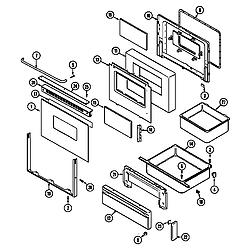 CHE9000BCE Range Door/drawer (che9000bce) (che9000bce) Parts diagram