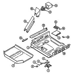 CHE9000BCE Range Internal controls Parts diagram