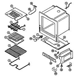 CHE9000BCE Range Oven/base Parts diagram