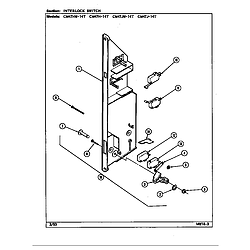 CM47JW14T Microwave Interlock switch Parts diagram