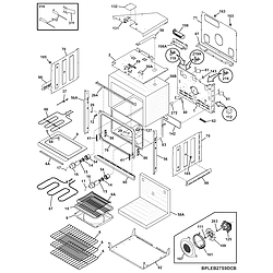 CPEB30S8CC2 Wall Oven Body Parts diagram