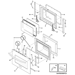 CPEB30S8CC2 Wall Oven Door Parts diagram