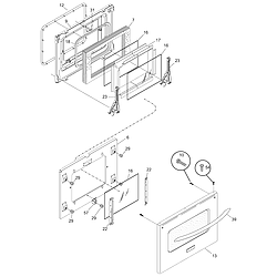 CPES389AC1 Range Door Parts diagram