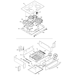 CPES389AC1 Range Top/drawer Parts diagram