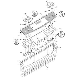 CPES389CC1 Range Backguard Parts diagram