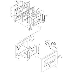 CPES389CC1 Range Door Parts diagram