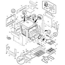 CPES389CC2 Range Body Parts diagram