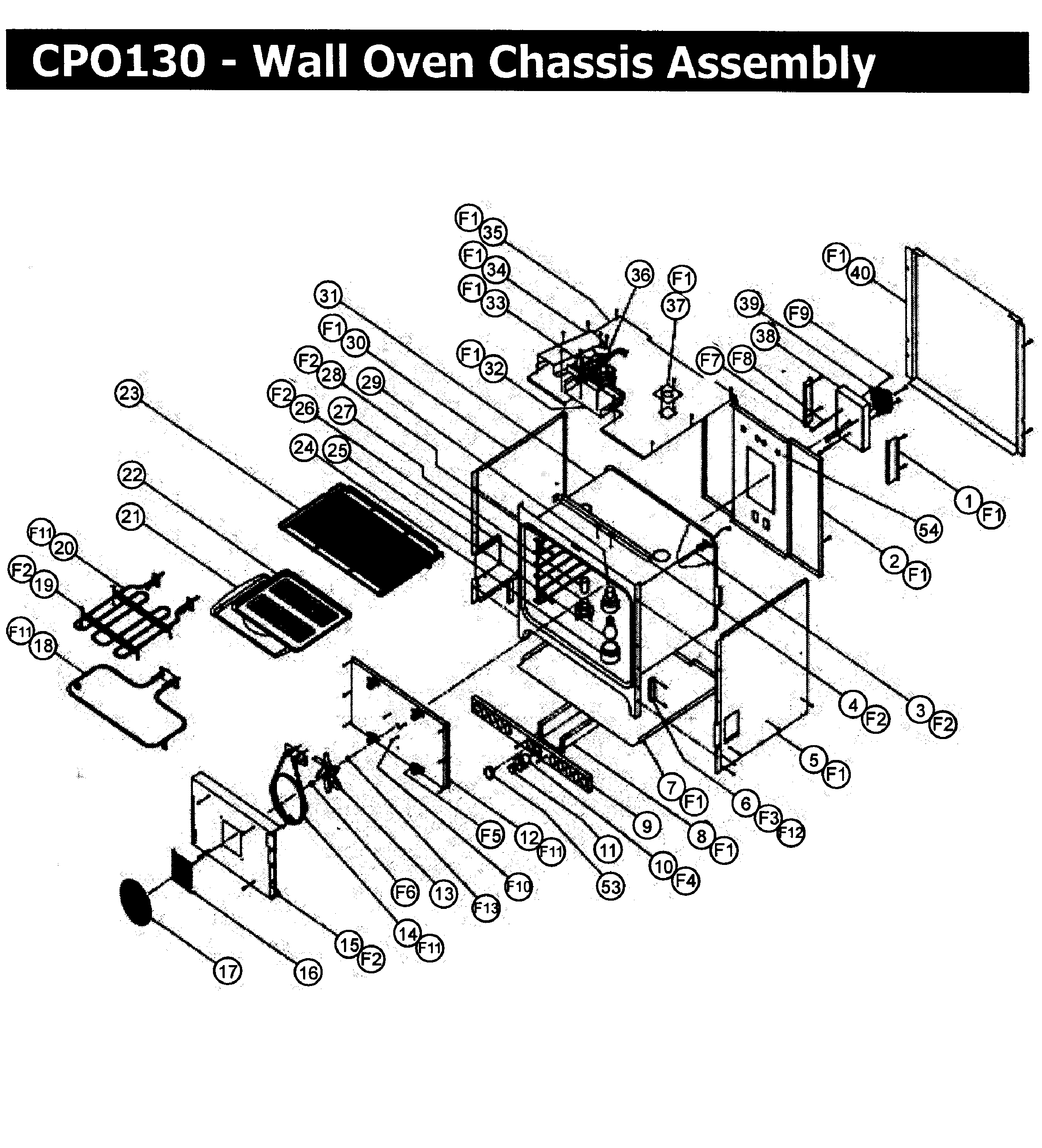 Dacor cpo130 wall oven timer stove clocks and appliance timers cpo130 wall oven chassis assy parts diagram sciox Choice Image